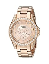 Fossil Riley Analog Brown Dial Women's Watch ES2811
