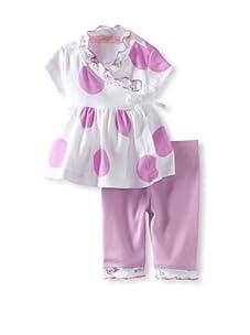 Baby Nay Short Sleeve Kimono Set (Lilac Dots)