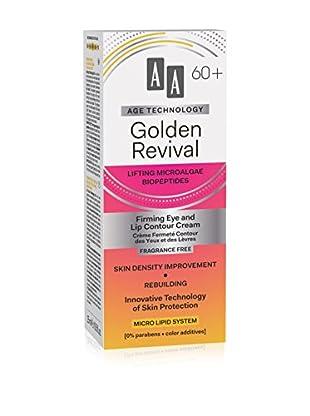 AA Cosmetics Augen- und Lippenkonturen Pflege Age Technology Golden Revival 60+ 15 ml, Preis/100 ml: 86.33 EUR