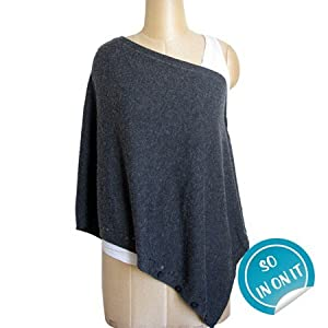 5-way Knitted Wrap Top in Charcoal