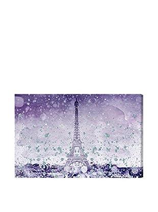 Oliver Gal Eiffel Glitter Violet Canvas Art