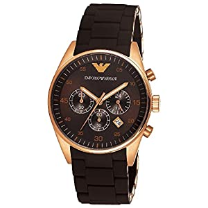 Armani Sportivo Chronograph Brown Dial Men's Watch - AR5890