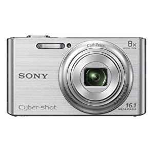 Sony Cyber-shot DSC-W730 16.1MP Point-and-Shoot Digital Camera (Silver) with Camera Case