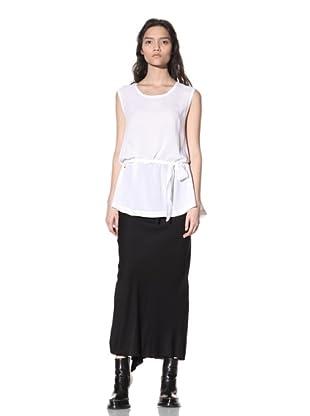Ann Demeulemeester Women's Sleeveless Belted Top (White)