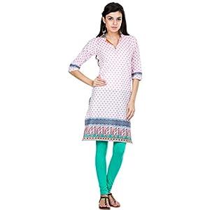 Zovi Womens Cotton A-Line Kurta (10591309501Xs _White _X-Small)