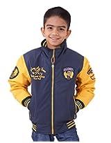 LITTLE BUGS Boy's Full Sleeve Cotton Jacket -Navy