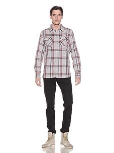 Shirt By Shirt Men's Stefan Plaid Button-Up Shirt (Navy/Green/Red)