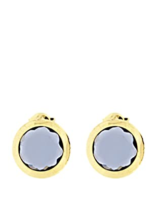 Gold & Diamond Pendientes 4 Estaciones Azul