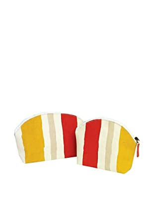 RockFlowerPaper Summer Stripe Zip Bags (Set of 2)