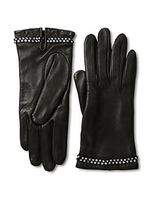 Portolano Women's Cashmere Lined Gloves with Stones (Black)