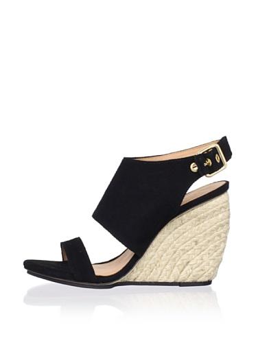 Rebecca Minkoff Women's Suri Wedge Sandal (Black Suede)