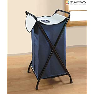 Swayam Dark Blue & Grey Laundry Bag Metal Mania