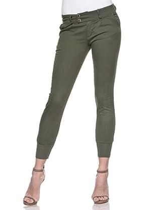 Crema Pantalón Pesquero Básico (Verde Militar)