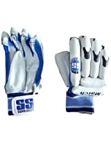 SS Match Batting Gloves (White/Black/Blue)