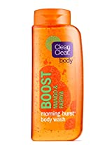 Clean & Clear Morning Burst Boost Body Wash, Mango and Papaya,  16 Fluid Ounce (Pack of 2)