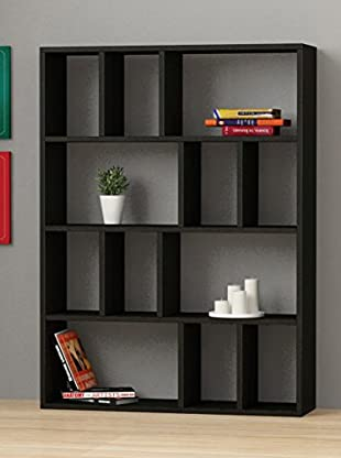 Decortie by Homemania Librería Donie (Negro)