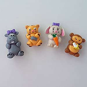 PinkFeather Cute Animal Collection - Set Of 4