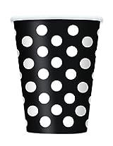6 BLACK DOTS 12OZ CUPS