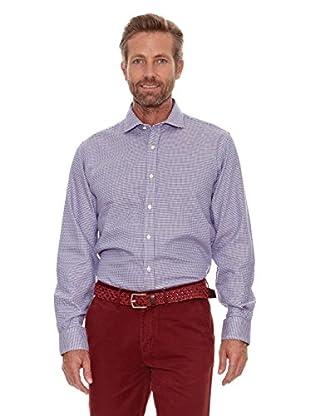 Cortefiel Camisa Pata de Gallo (Azul Marino)
