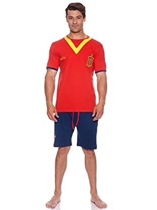 Licencias Pijama Caballero Selección Española Escudo Pequeño (Rojo / Azul)
