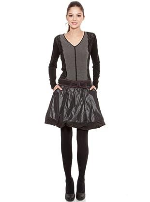 Poupé Chic Vestido Encaje Metalizado (Gris)