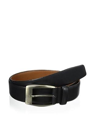 J.Campbell Los Angeles Men's Smooth Leather Belt (Black)