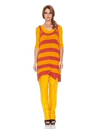 American Vintage Vestido Tirantes (Mango / Rojo)