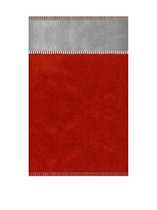 Manterol Toalla Playa Náutica (Rojo / Gris)