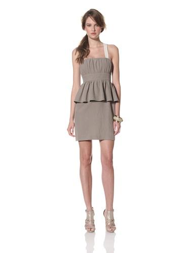 Whit Women's Snappy Linen Palm Dress (Pale Grey)