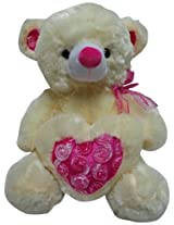 Play-N-Pets Bear with Heart Small, Cream (25cm)