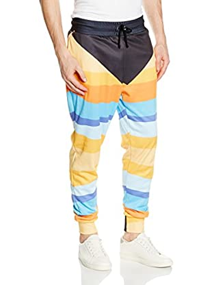 Mr. Gugu & Miss Go Pantalone Felpa Unisex Black Abstract