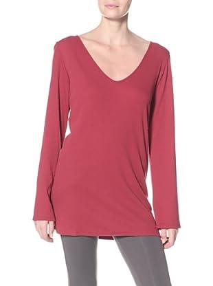 SKIN Women's Ribbed Tunic (Crimson)