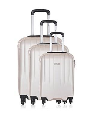 Travel ONE Set de 3 trolleys rígidos Warrington Beige