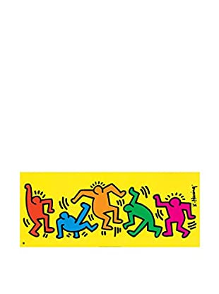 Artopweb Panel Decorativo Haring Sans Titre 50x120 cm Bordo Nero