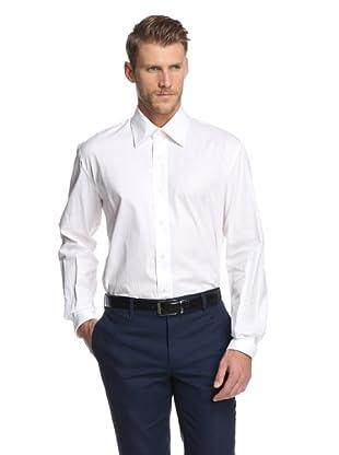 Nikky Men's Hand-Made Regular Fit Shirt (White Twill)