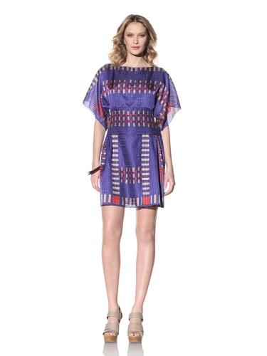 Anna Sui Women's Ikat Printed Dress (Ultra Marine)