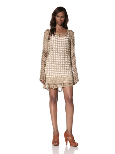 Dallin Chase Women's Kyros Crochet Sweater Dress (Gold)