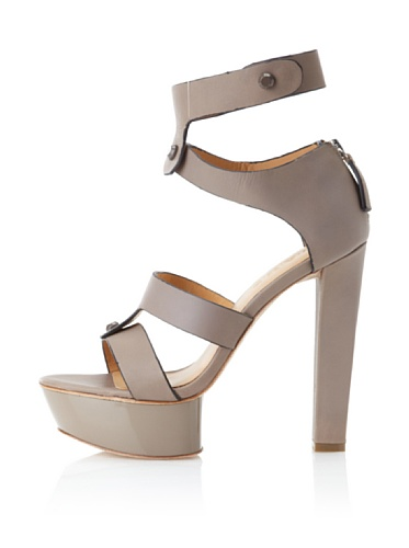 L.A.M.B. Women's Mollie Platform Sandal (Grey)