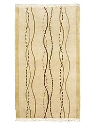 Hand-Knotted Aurora Wool Rug, Khaki, 3' 1