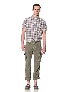 Tailor Vintage Men's Linen Cargo Pant (Army)