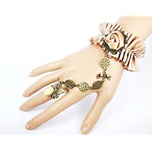 Return Favors Gothic Style Golden lace Italy Design Bracelet With Ring For women
