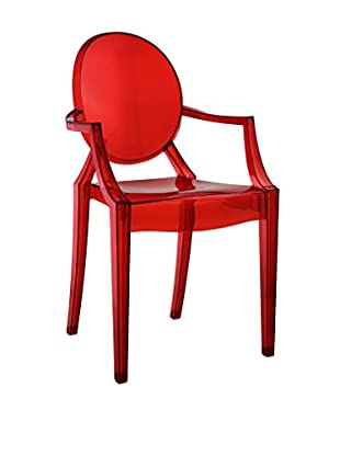 LexMod Casper Dining Chair, Red