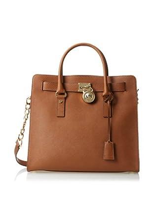 MICHAEL Michael Kors Women's Hamilton Large N/S Satchel, Luggage