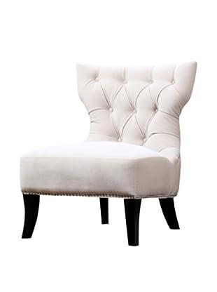 Abbyson Living Napalee Microfiber Suede Chair, Sandstone