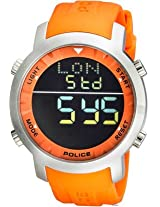 Police Digital Watch - For Women Men Orange - PL12898JS - 02I