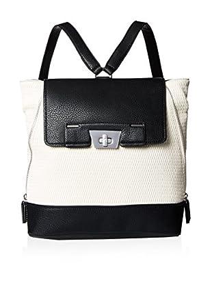 Danielle Nicole Women's Rae Backpack, White/Black