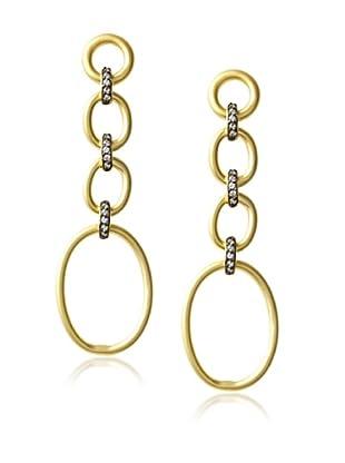 Belargo Oval Rings Long Earrings