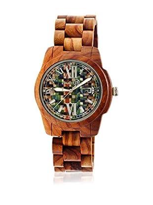 Earth Uhr mit Japanischem Quarzuhrwerk Heartwood Ethew1507 mittelbraun 43  mm