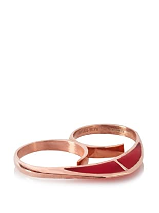 Katie Rowland Lilith Enamel Heart Ring (Pop)