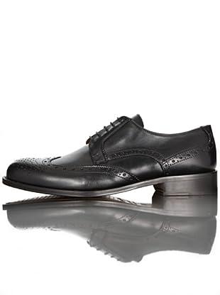 British Passport Zapatos Cordones (Negro)